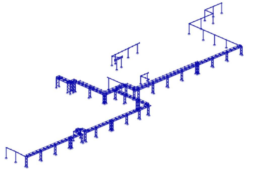 Раздел КМД эстакады технологических трубопроводов