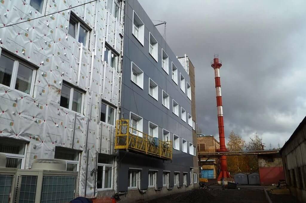 Монтаж фасада, г. Чусовой
