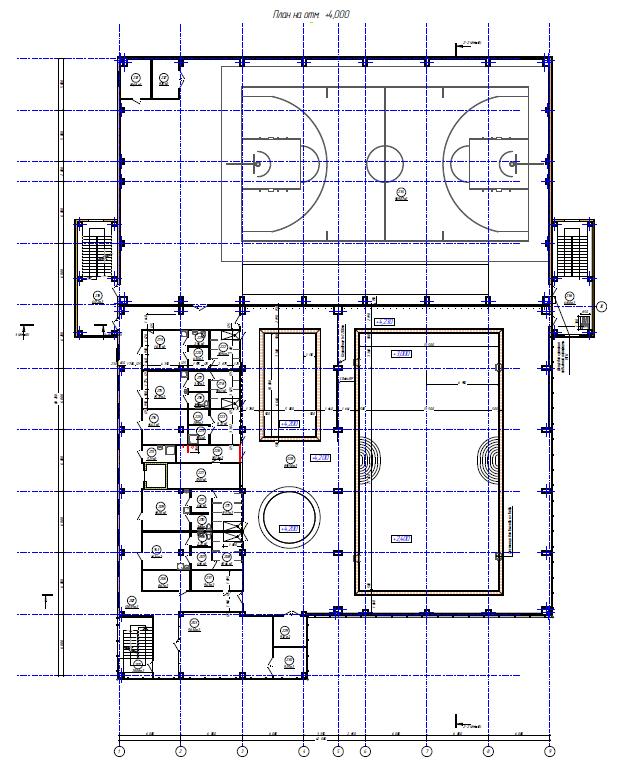Проектирование здания ФОК